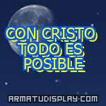 display CON CRISTO TODO ES POSIBLE